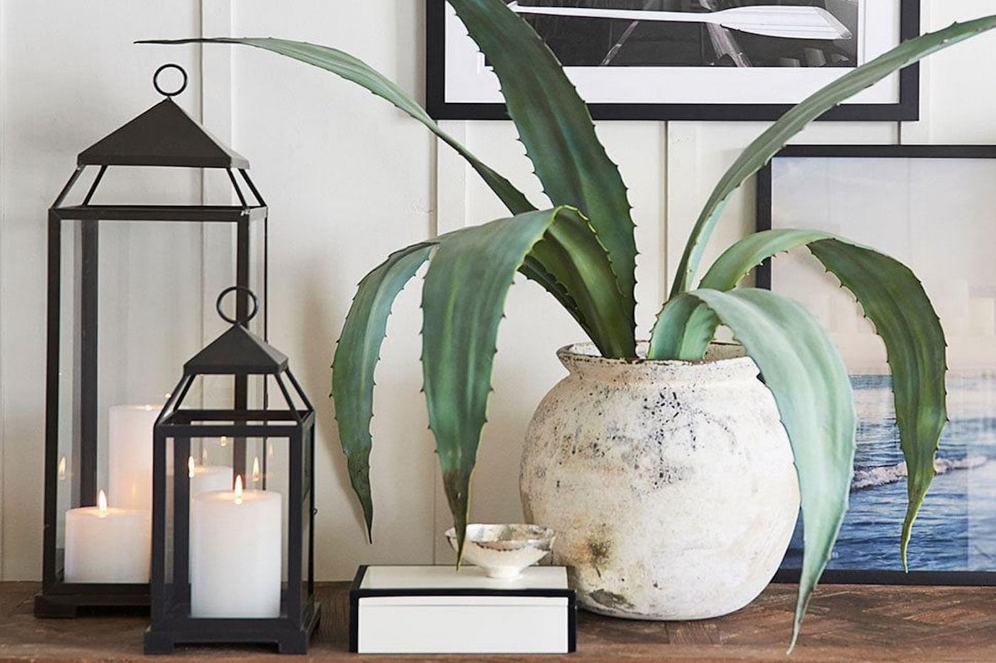 how to style spaces with lanterns