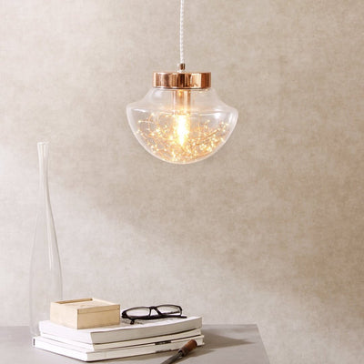 Elise Fairy Lights Clear Glass Pendant Lamp - Home Artisan