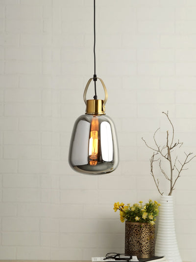Bruce Smoky Glass Globe Pendant Lamp - Home Artisan