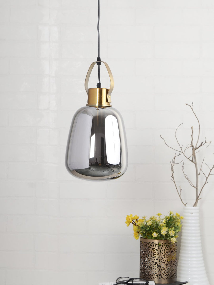 Bruce Smoky Glass Globe Pendant Lamp