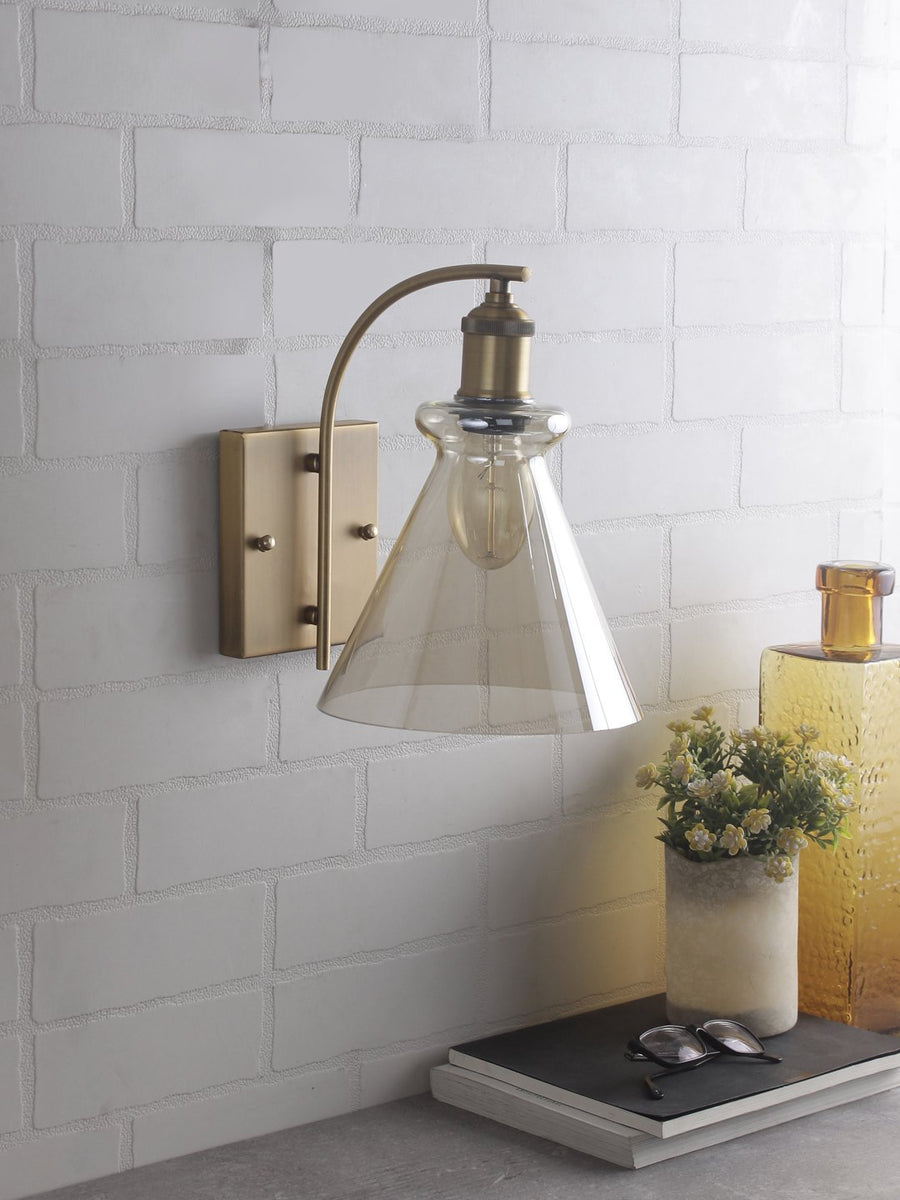 Sloan Amber Flare Wall Light