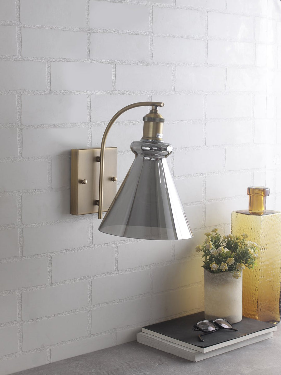 Sloan Smoky Flare Wall Light