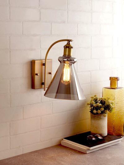 Sloan Smoky Flare Wall Light - Home Artisan