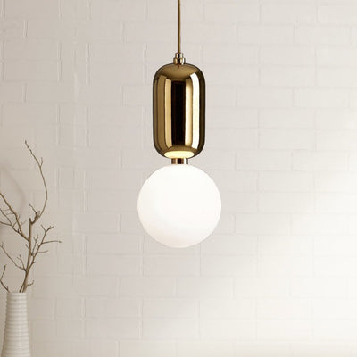 Wayne White Globe Pendant Lamp - Small - Home Artisan