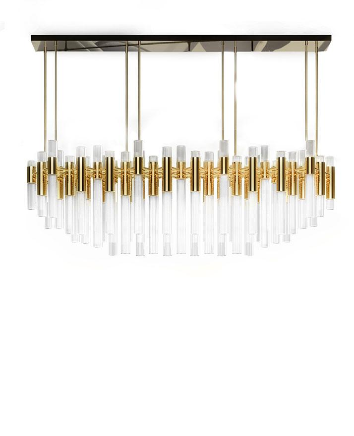 Daniel Ivory and Gold Icicle Chandelier