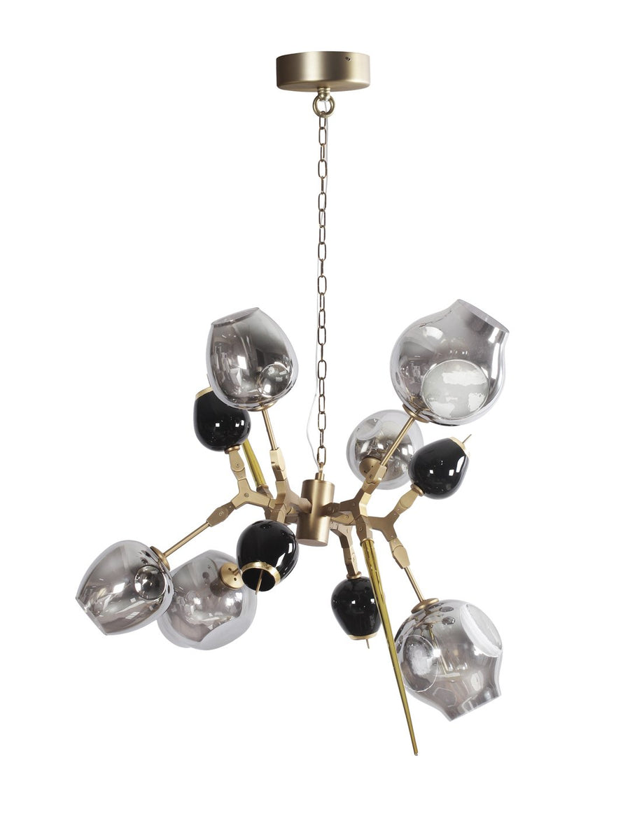 Reginald Amber Five Light Chandelier