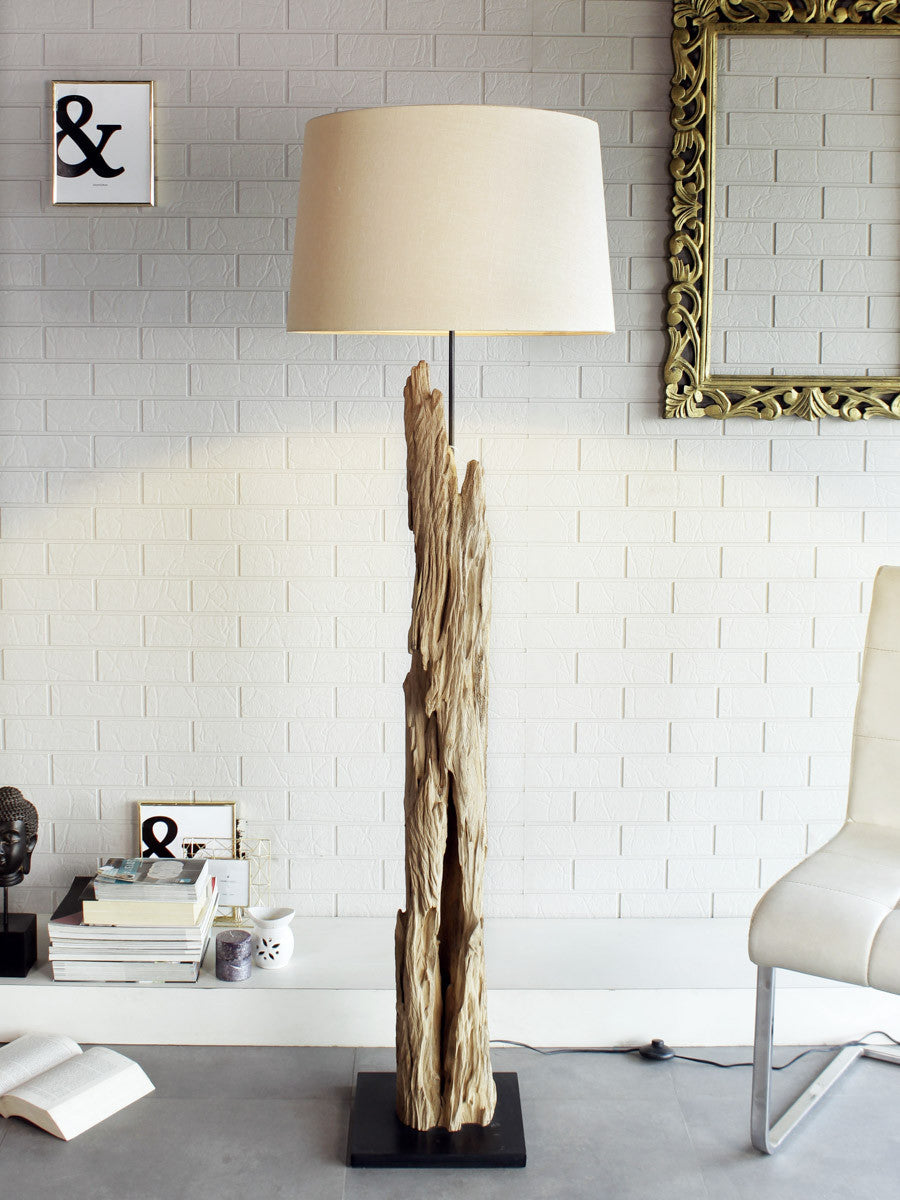 floor halogen designer modern white delhi lamp light driftwood unique