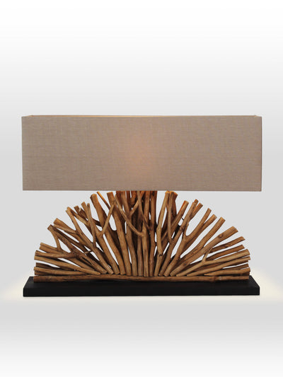 Edrick Driftwood Table Lamp - Home Artisan