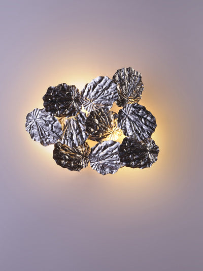 Lillian Silver Leaves Wall Light