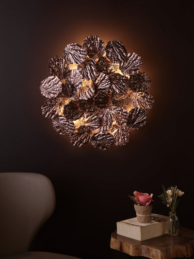 Hodge Copper Leaves Wall Light - Home Artisan