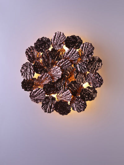 Hodge Copper Leaves Wall Light