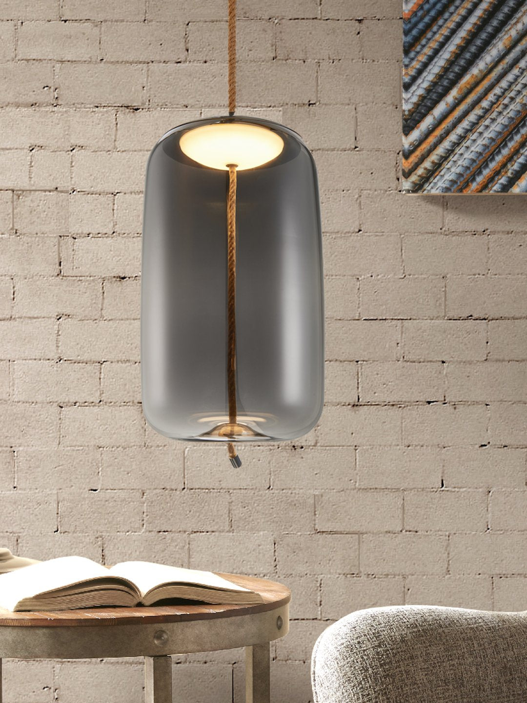 Smith Smoky Glass Pendant Lamp