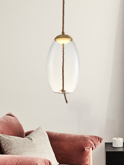 Kenneth Clear Glass Pendant Lamp - Home Artisan