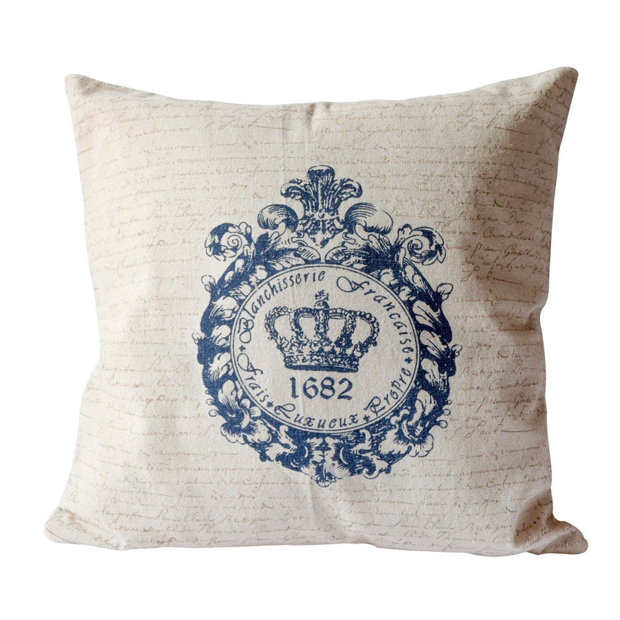 Augustin Crown Print Cushion Cover