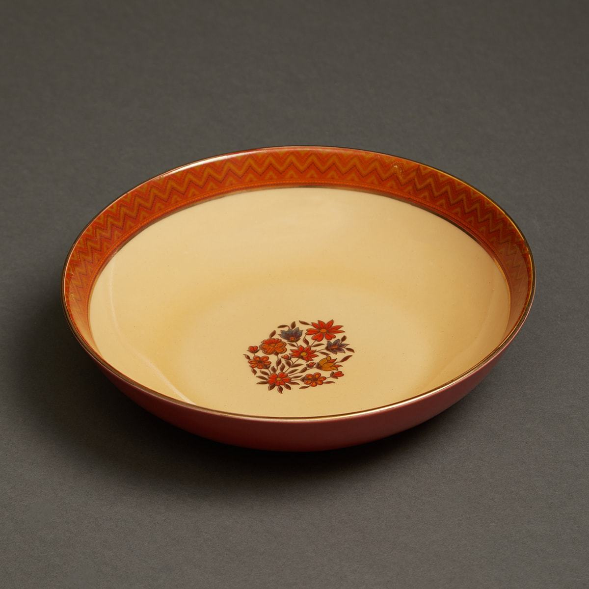 Rust Banki Ceramic Round Serving Bowl (Small) by Ritu Kumar Home - Home Artisan