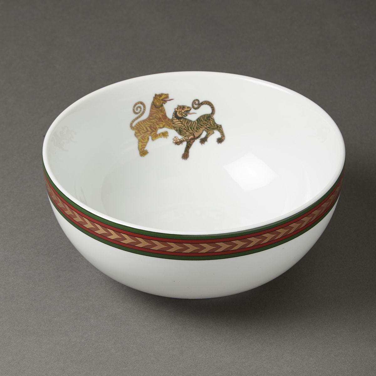 Off White Baagh Serving Bowl (Large) by Ritu Kumar Home - Home Artisan