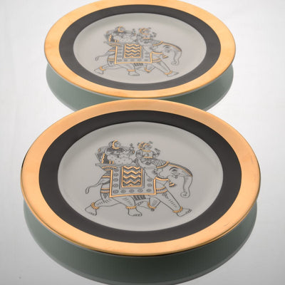 Byah Side Plate (Set of 2) by Kaunteya