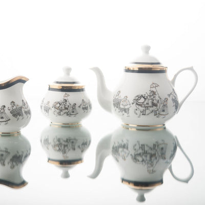 Byah Tea Pot, Creamer & Sugar Pot by Kaunteya - Home Artisan