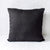 Black Linen Cushion with Filler