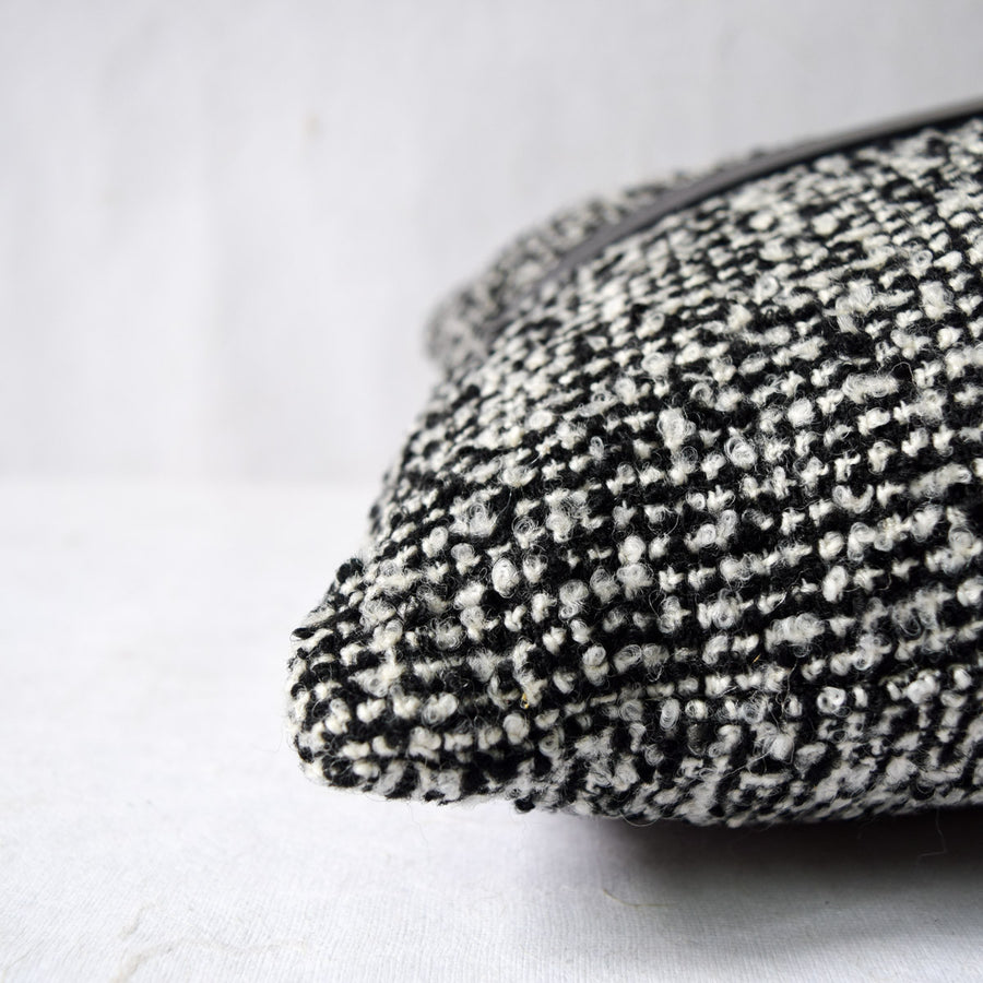Black and White Patterned Cushion with Filler