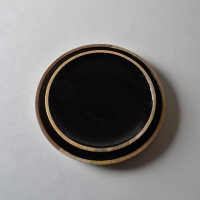 Claudia Mango Wood Platter with Black Enamel - Home Artisan_3