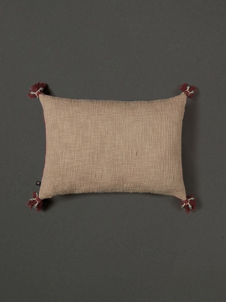 Rust Red Cushion with Filler by Ritu Kumar Home