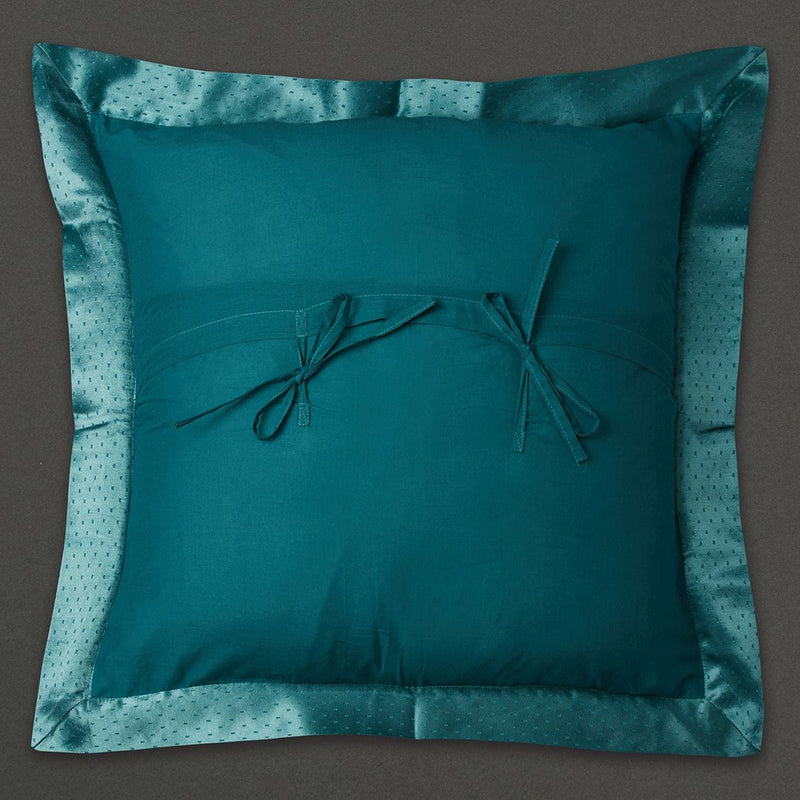 Teal Jal Mahal Square Cushion with Filler by Ritu Kumar Home - Home Artisan