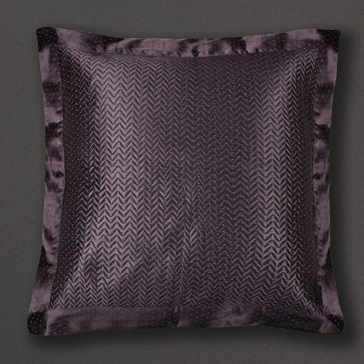 Black Agora Square Cushion with Filler by Ritu Kumar Home - Home Artisan