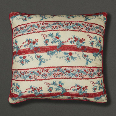 Ritu Kumar Chidambaram Floral Cushion With Filler by Ritu Kumar Home