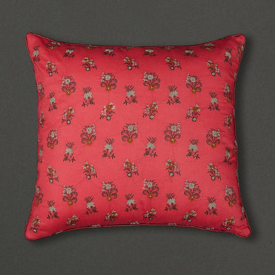 Pink Chidambaram Cushion with Filler by Ritu Kumar Home