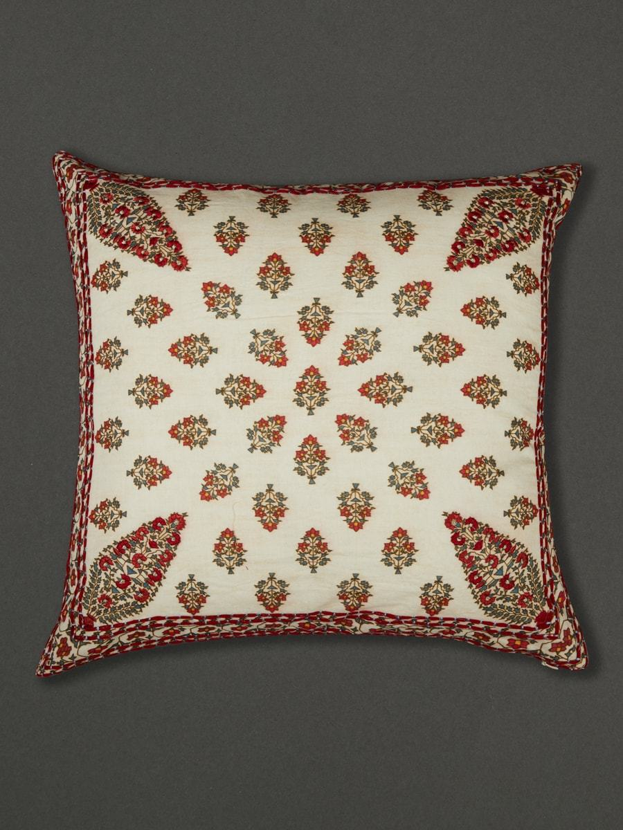 Ivory Chameli Cushion With Filler by Ritu Kumar Home - Home Artisan