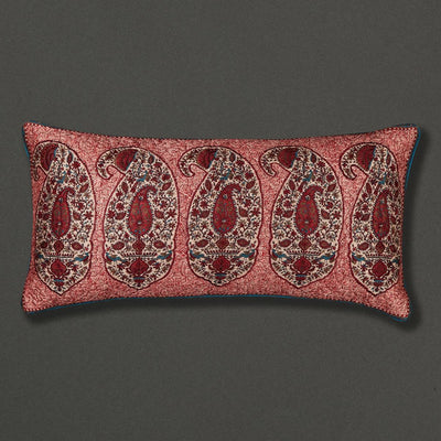 Red Kalash Rectangle Cushion with Filler by Ritu Kumar Home - Home Artisan