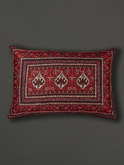 Red Agora  Cushion With Filler by Ritu Kumar Home - Home Artisan