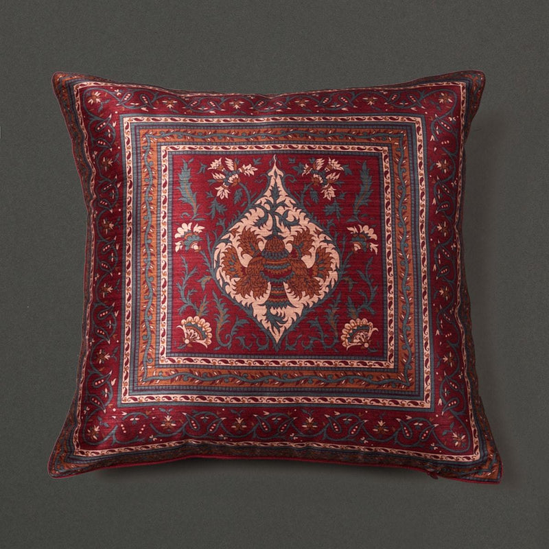 Beige & Maroon Saadh Cushion With Filler by Ritu Kumar Home - Home Artisan