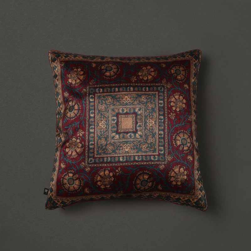 Maroon Saadh Cushion With Filler by Ritu Kumar Home - Home Artisan