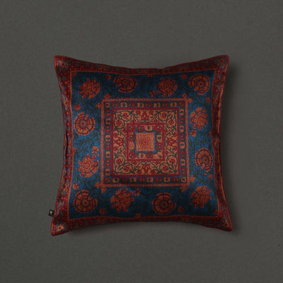 Teal Saadh Cushion With Filler by Ritu Kumar Home