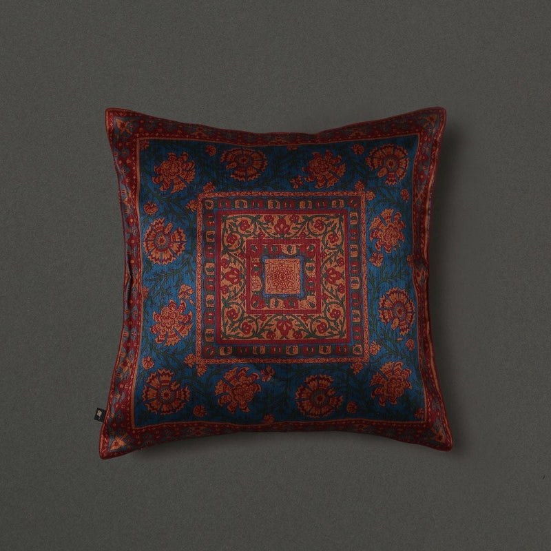 Teal Saadh Cushion With Filler by Ritu Kumar Home - Home Artisan