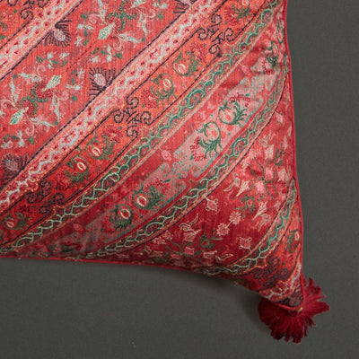 Multi Jamavar Print Square Cushion With Filler by Ritu Kumar Home