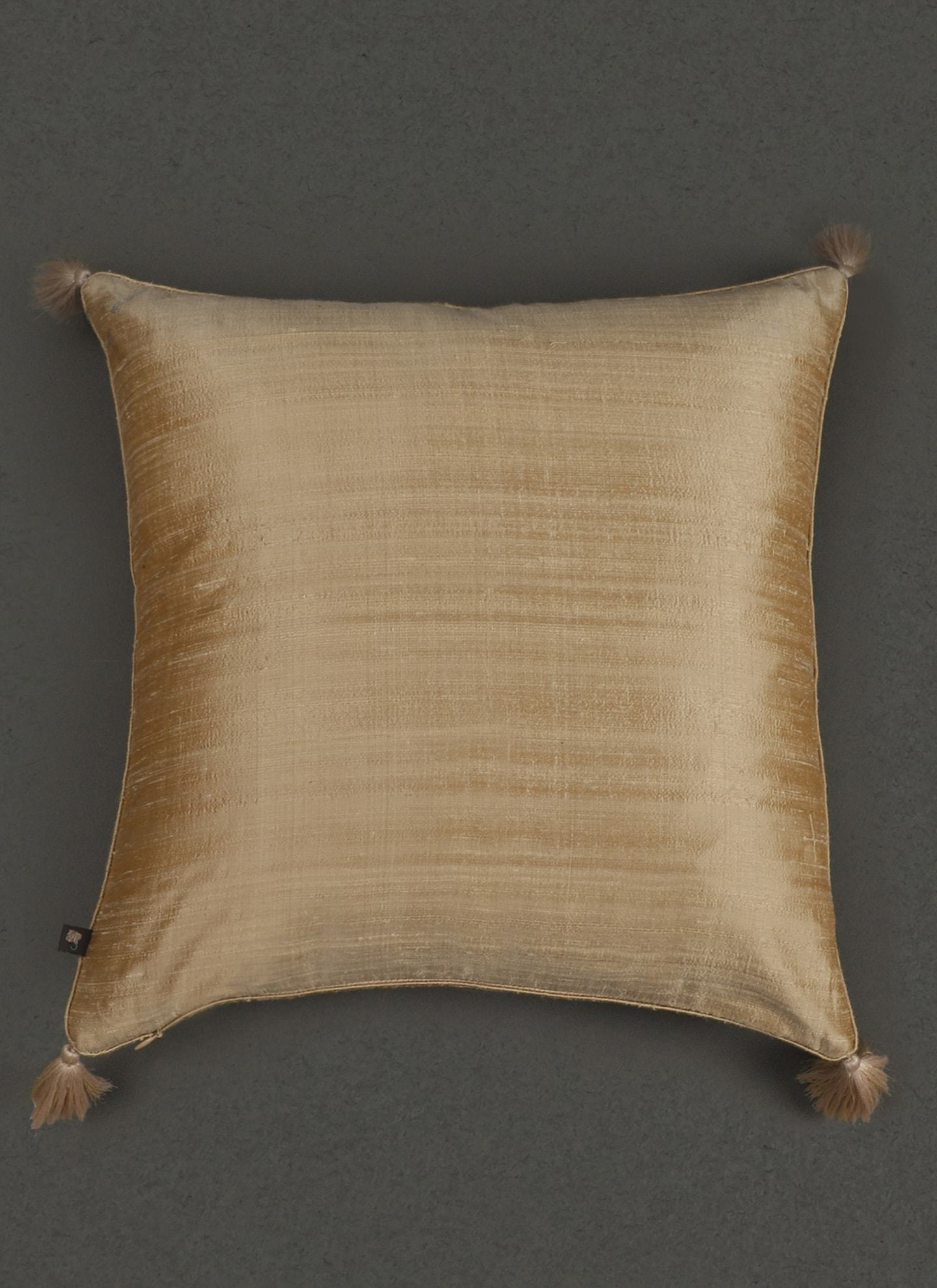 Beige Quilted Core Cushion With Filler by Ritu Kumar Home - Home Artisan