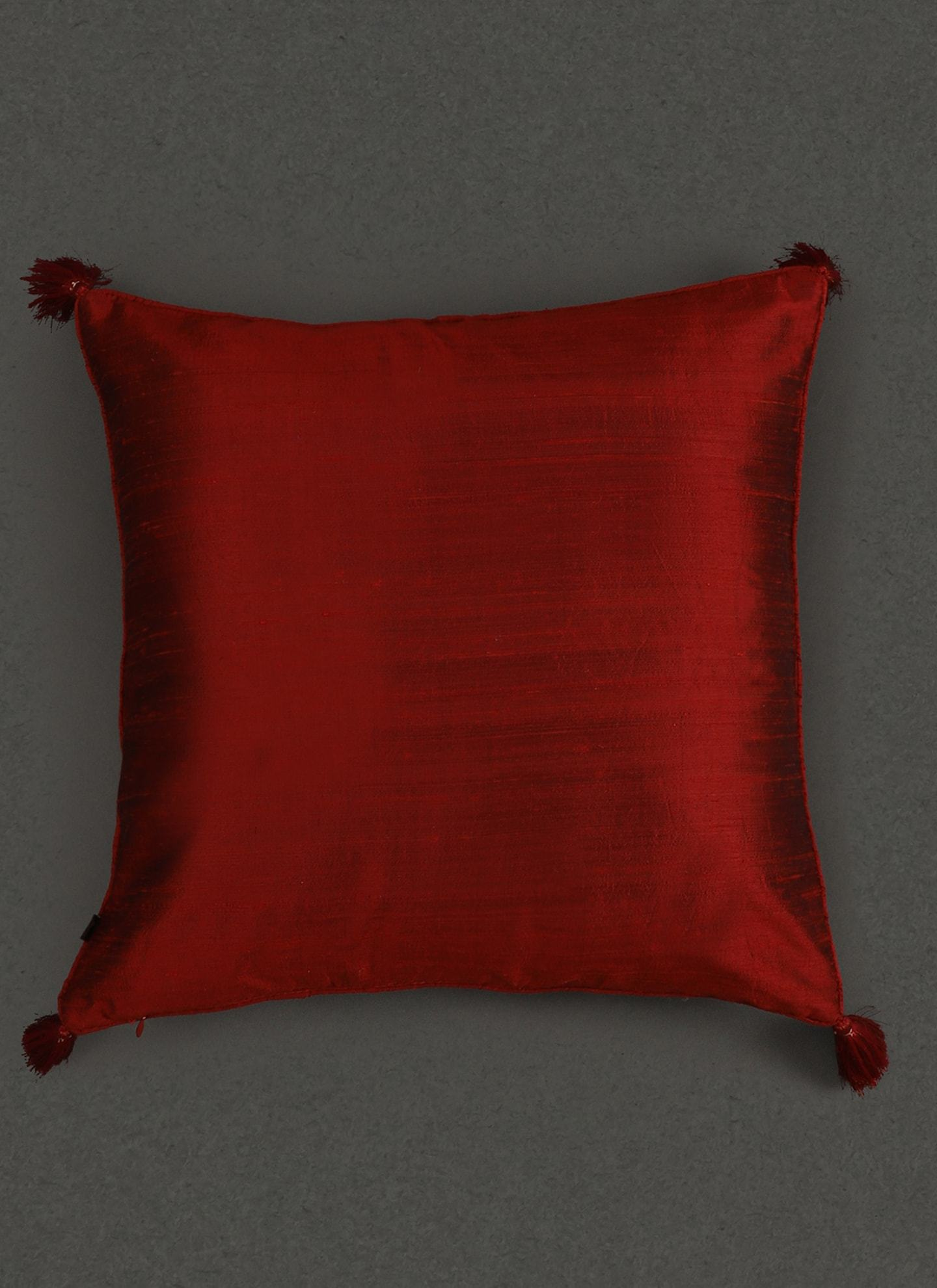 Red Quilted Core Cushion With Filler by Ritu Kumar Home - Home Artisan