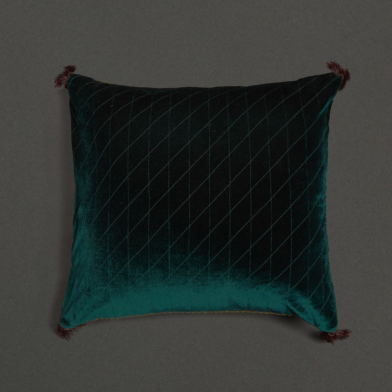 Green Square Cushion With Filler by Ritu Kumar Home - Home Artisan