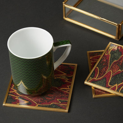 Baagh Print Coasters (Set of 6) by Ritu Kumar Home