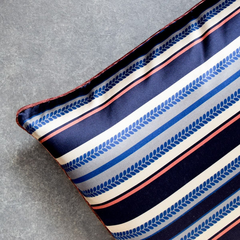 Samira Blue Stripes Printed Cushion Cover by Valaya Home for Tapestry  - Home Artisan