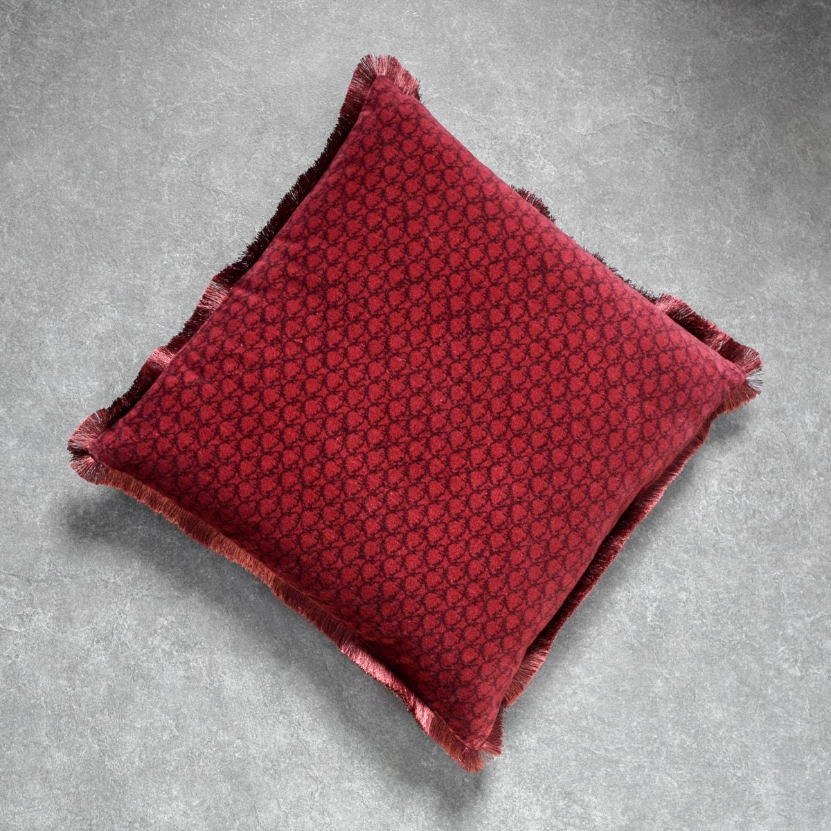 Red Printed Cushion Cover by Peter D'Ascoli - Home Artisan