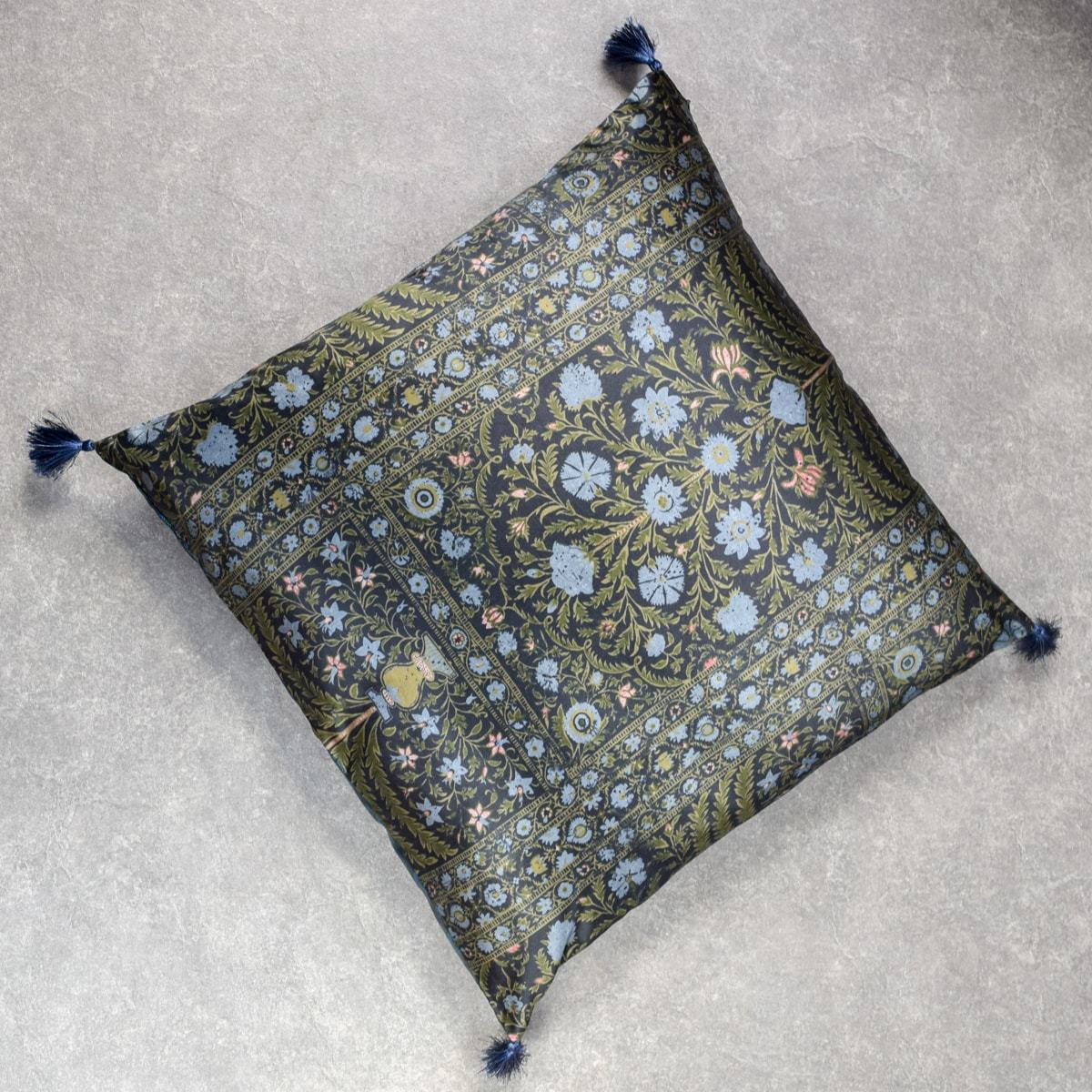 Blue and Green Printed Cushion Cover by Peter D'Ascoli - Home Artisan