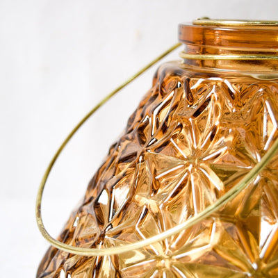 Conical Etched-Glass Vase/Candle Holder - Home Artisan_4