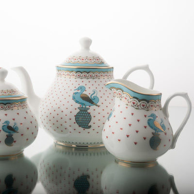 Dasara Tea Pot, Creamer & Sugar Pot by Kaunteya - Home Artisan