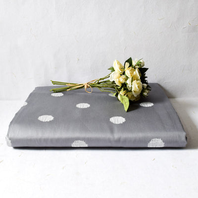Eleanor Grey with White Polka Dot Bed Sheet - Home Artisan_1