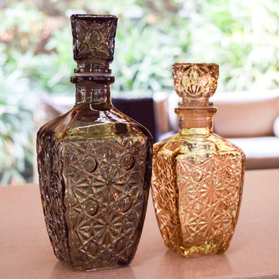 Decorative Etched-Glass Bottle (Large) - Home Artisan_1