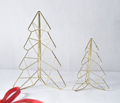 Decorative Golden Christmas Tree (Small) - Home Artisan_3